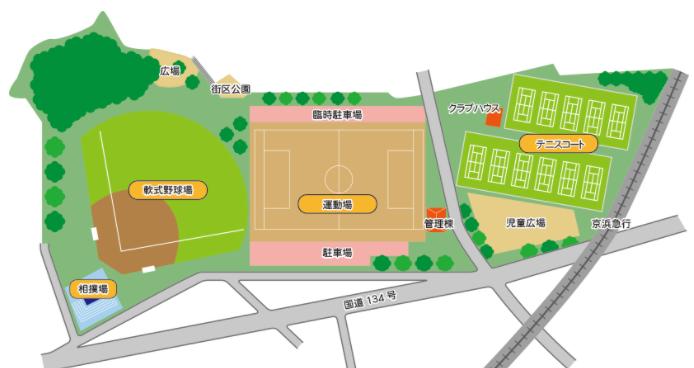 大津公園の案内図
