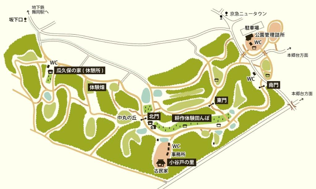 舞岡公園案内図