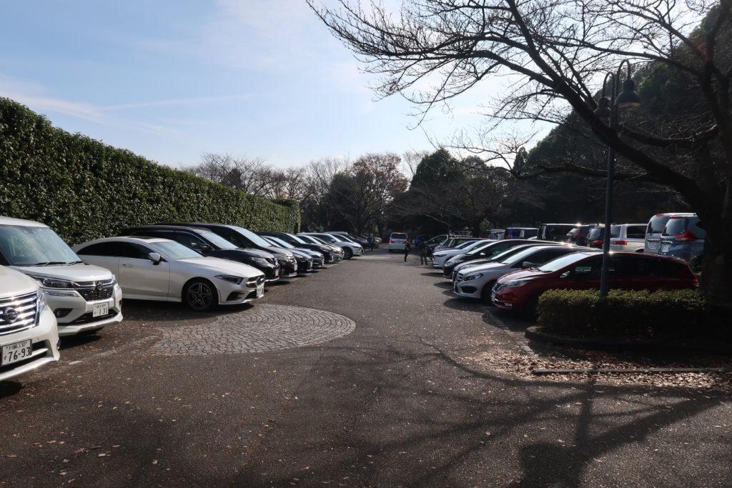 四季の森公園の駐車場