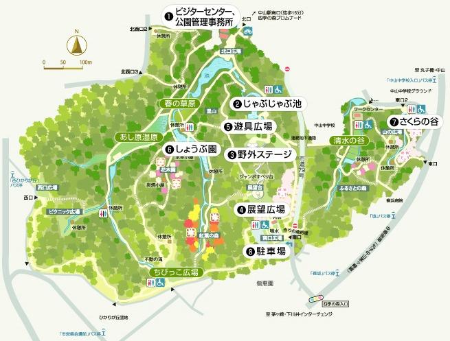 県立四季の森公園の地図