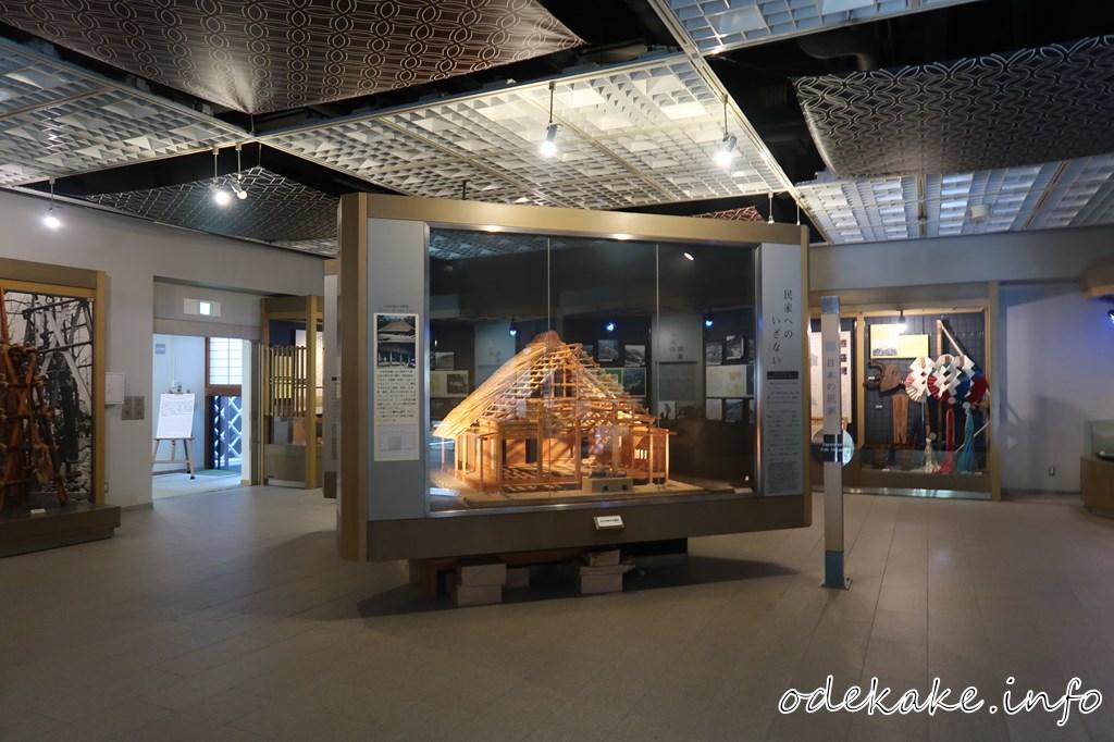 日本民家園の本館展示室