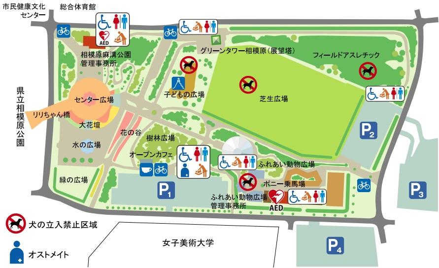 麻溝公園の案内図