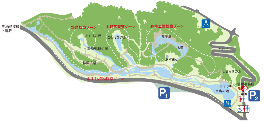 道保川公園の案内図