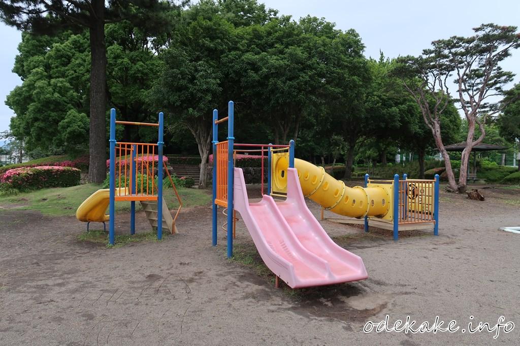 芝生広場の遊具