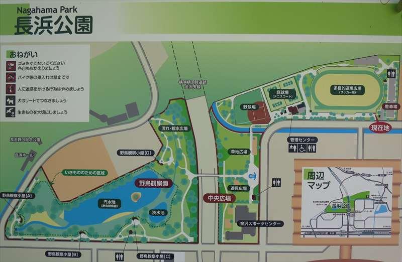 長浜公園の案内図