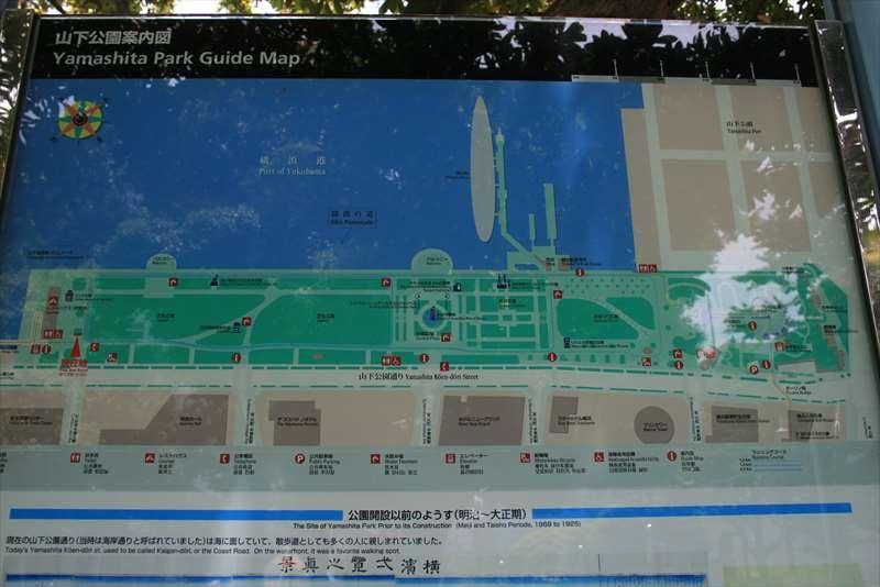 山下公園の案内図