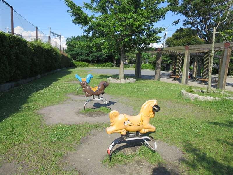 大津公園のスプリング遊具