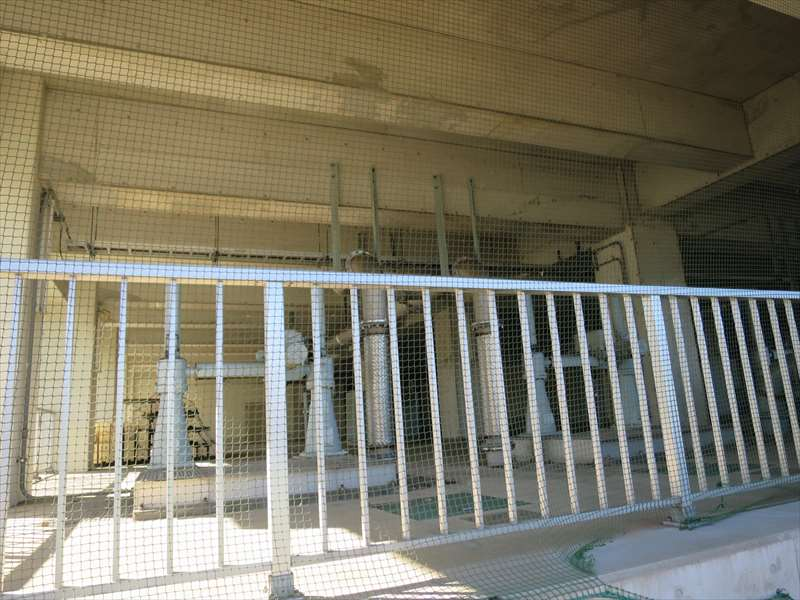 磯子第二ポンプ場の滞水池施設