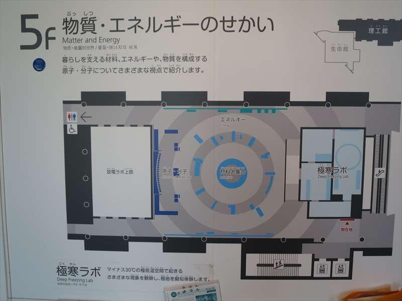 理工館 5階 :物質・エネルギーのせかい