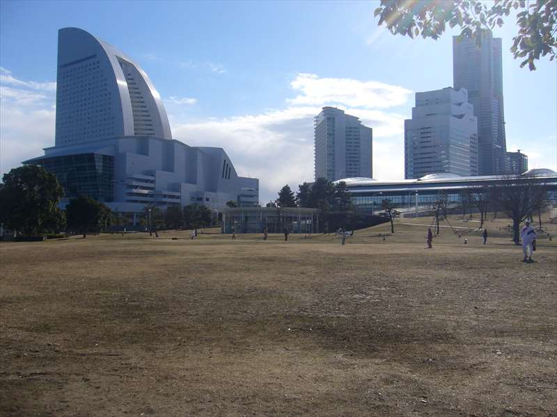 公園中央の広場