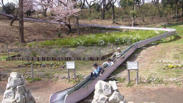 遊びの森のローラー滑り台
