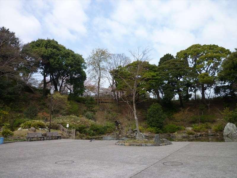 公園の東側