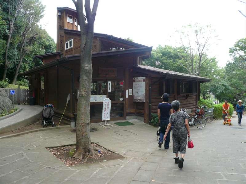 ログハウスの入り口
